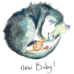 Sylvia New Baby Card by Catherine Rayner