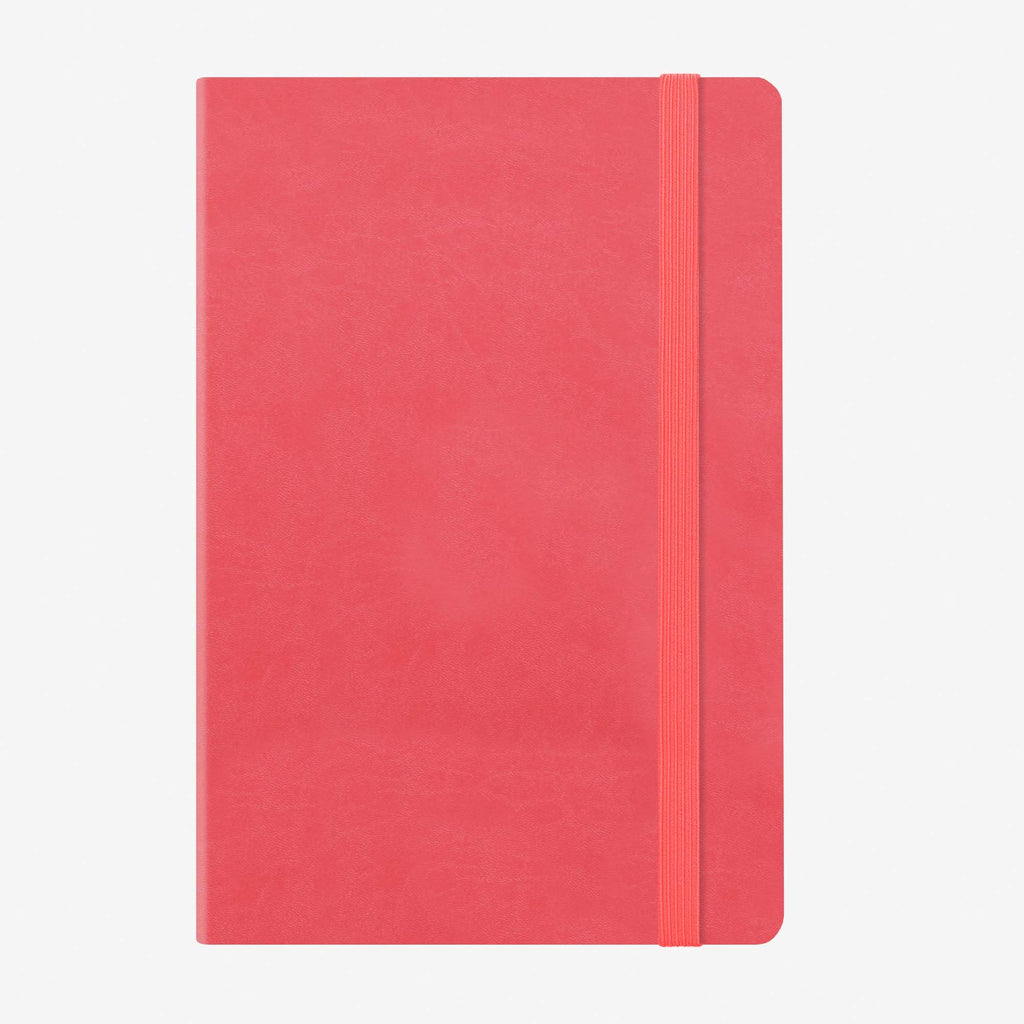 Medium Weekly Diary With Notebook 12 Month 2020 - Neon Coral
