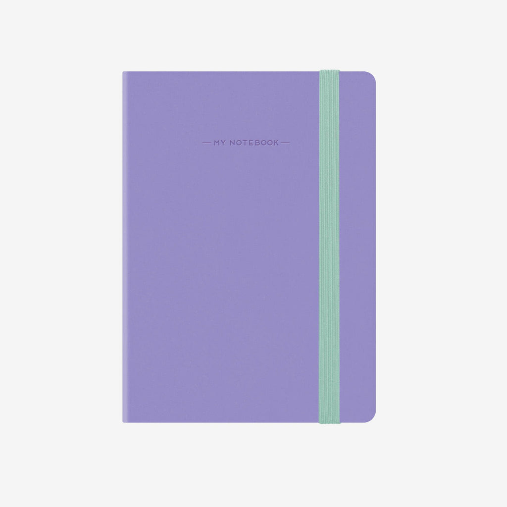 Small Plain Liliac Notebook