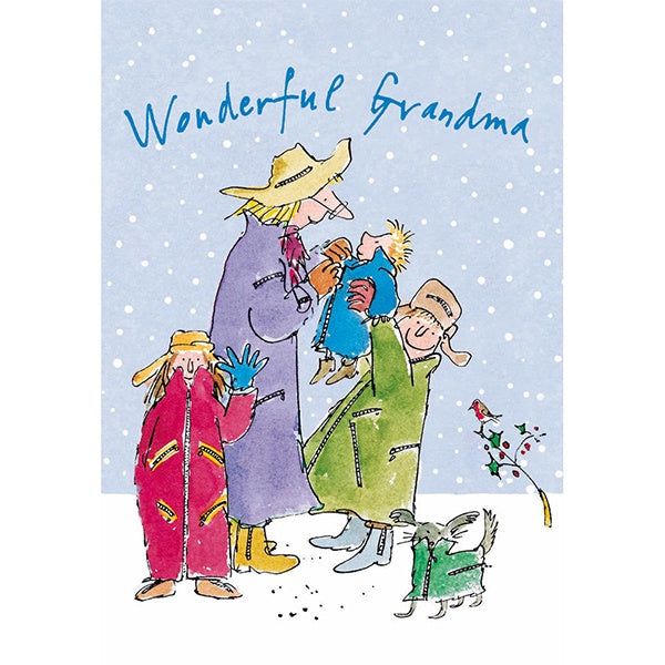 Wonderful Grandma Christmas Card