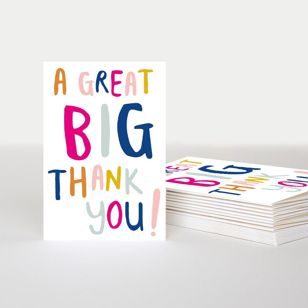 A Great Big Thank You Pack of 10 Cards