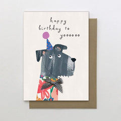 Happy Birthday To Yoooooo Dog Birthday Card
