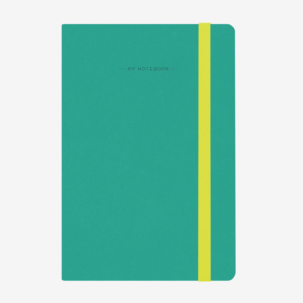 Medium Lined Turquoise Notebook