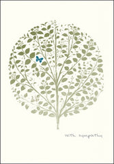 With Sympathy Butterfly Tree Card