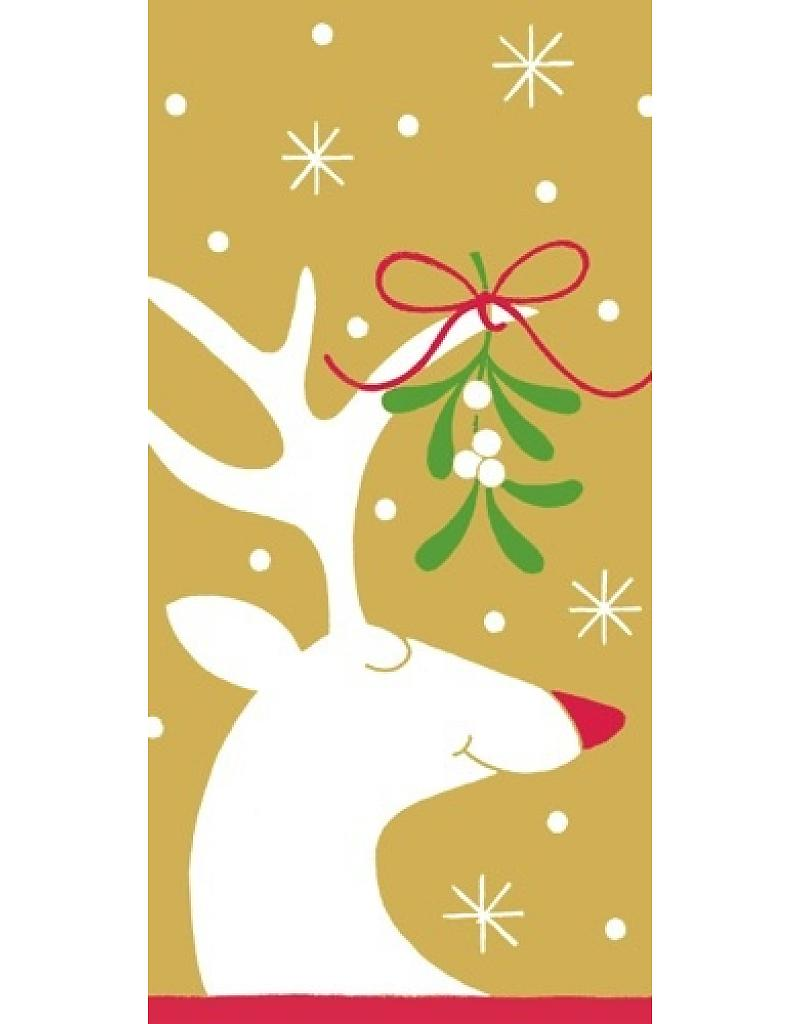 Gold Under the Mistletoe Pack of Tissues