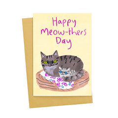 Happy Meow-thers Day Card