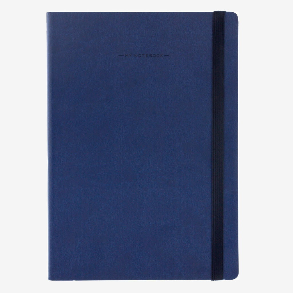 Large Lined Navy Notebook