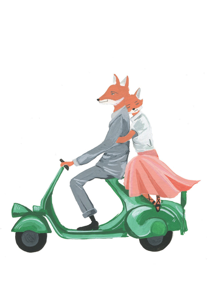 Vespa Fox Card