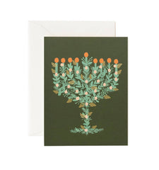 Illustrated Menorah Card