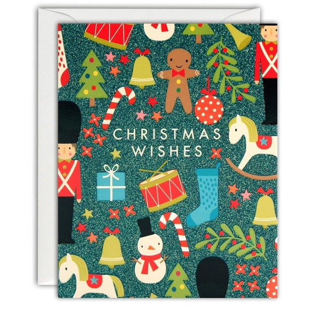 Christmas Toys Pattern Mini Pack of 5 Cards