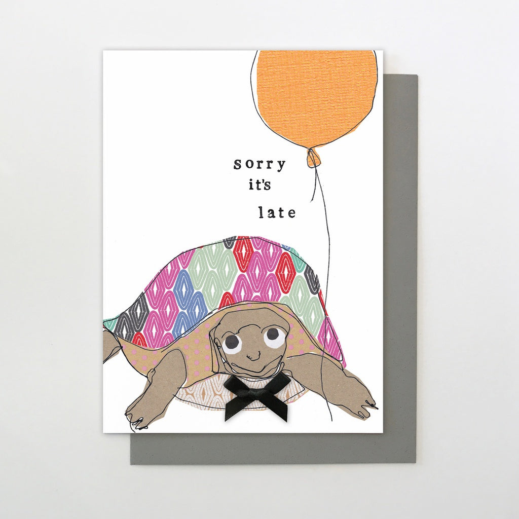 Sorry it's Late Tortoise Belated Birthday Cards