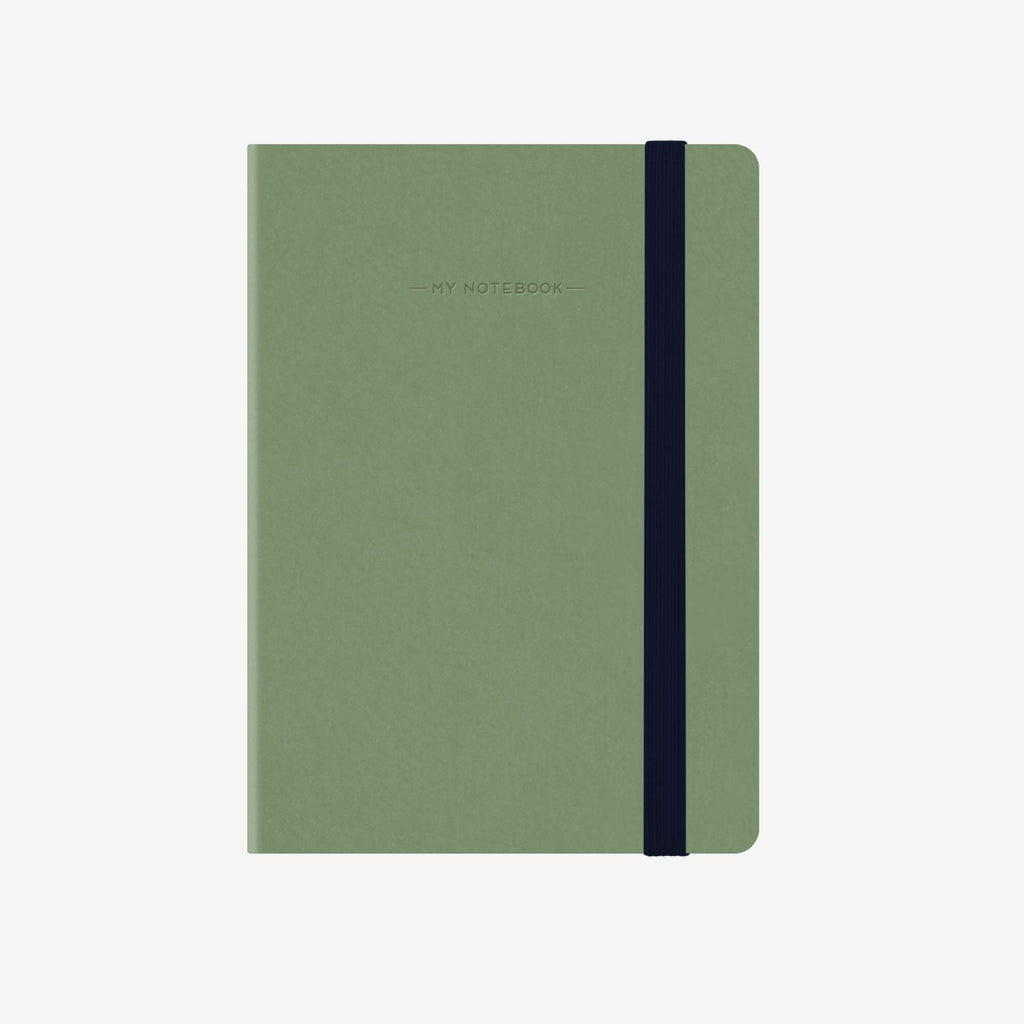 Small Plain Vintage Green Notebook