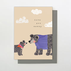 2 Bears Love You Daddy Father's Day Card