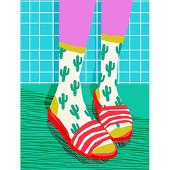 Cactus Socks and Sliders Card