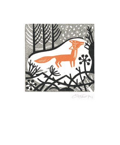 Winter Fox Blank Card