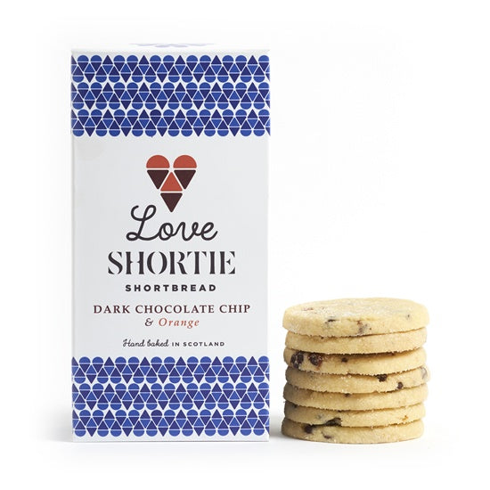 Love Shortie Dark Chocolate and Orange Shortbread