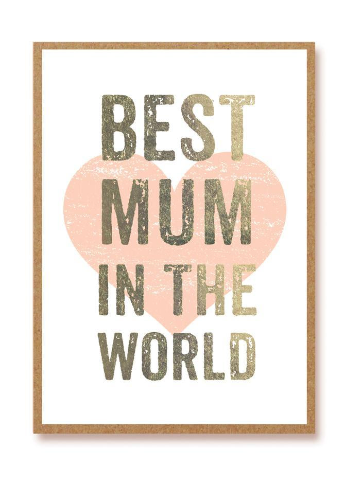 Best Mum in the World Card