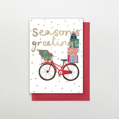 Seasons Greeting Bicycle Christmas Card
