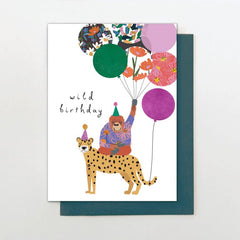 Wild Birthday and Balloons Birthday Card