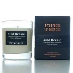 Paper Tiger Auld Reekie Cedarwood, Cinnamon, Cloves & Orange Medium Candle