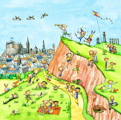 A View Of Salisbury Crags Gingerpaws Square Card