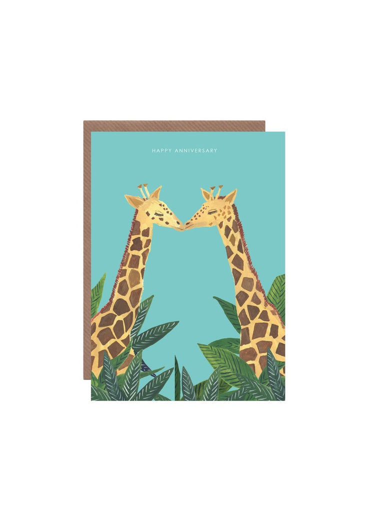Happy Anniversary Giraffes Card