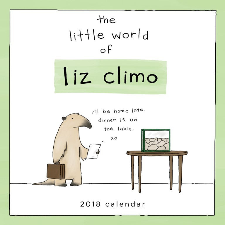 2018 The Little World Of Liz Climo Wall Calendar