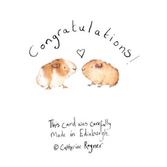 Carri and Gary Congratulations Card by Catherine Rayner