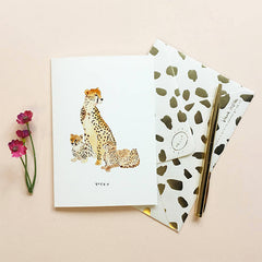 Cheetah Queen Mother's Day Card