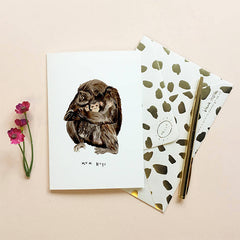 Chimpanzee Mum Hugs Mothers Day Card