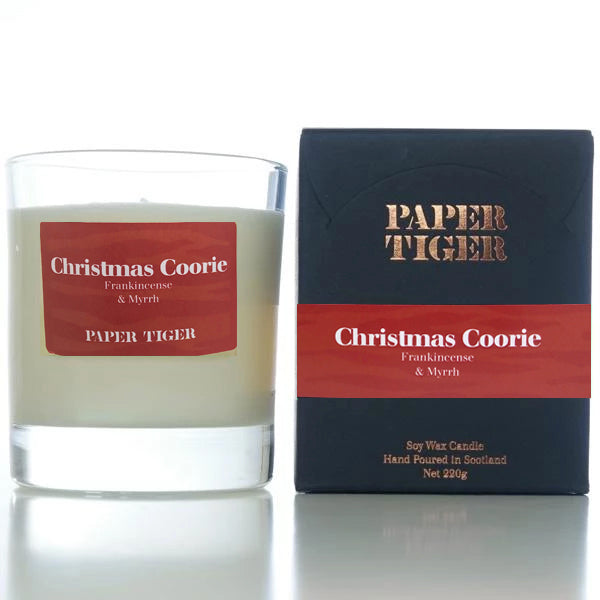 Paper Tiger Christmas Coorie Frankincense & Myrrh Large Candle