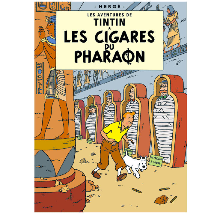 Cigars of the Pharaoh Tintin Poster