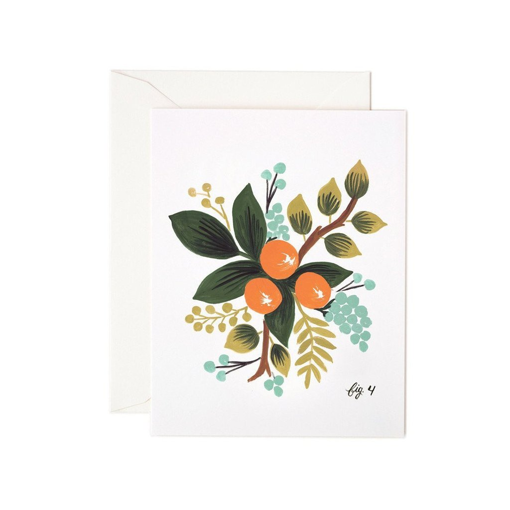 Clementine Floral Card