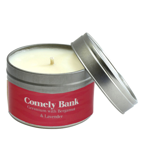 Paper Tiger Comely Bank Geranium Bergamot & Lavender Small Candle Tin