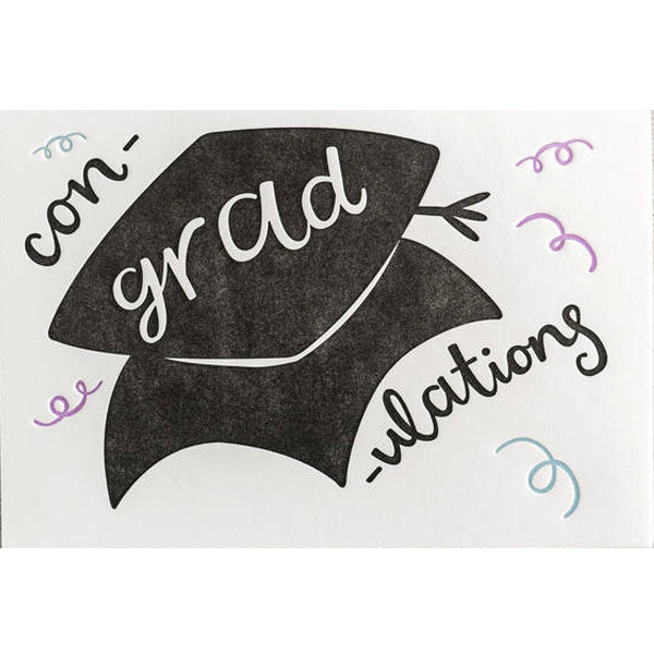 Con-grad-ulations Letterpress Card