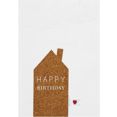 Happy Birthday Cork House Card
