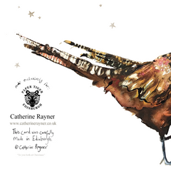 To You Both At Christmas Pheasants Christmas Card by Catherine Rayner