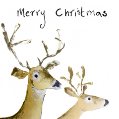 Merry Christmas Deer Christmas Card by Catherine Rayner