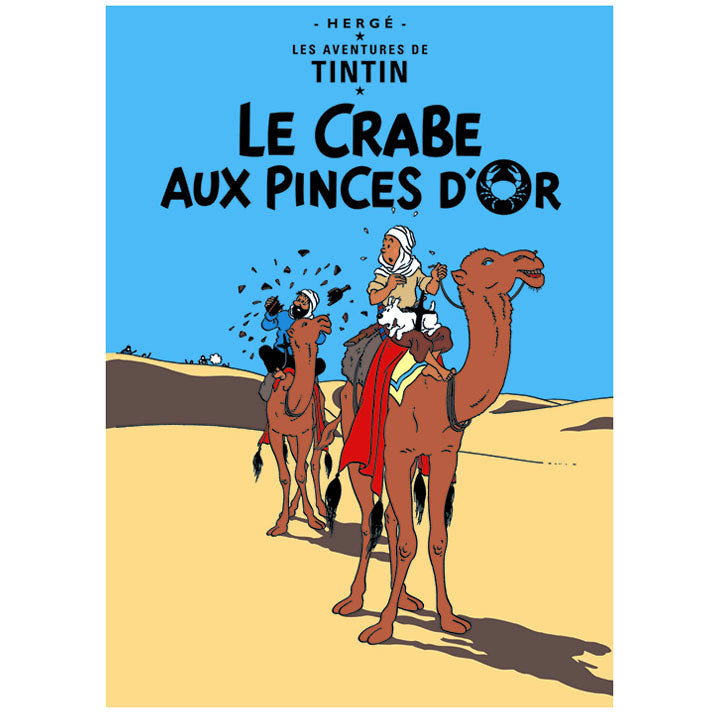 The Crab with the Golden Claws Tintin Poster