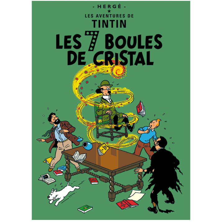 The Seven Crystal Balls Tintin Poster