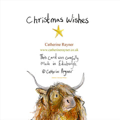 Christmas Wishes Card by Catherine Rayner