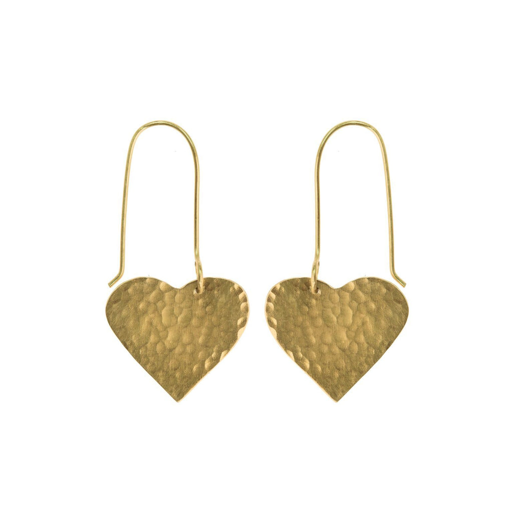 April Showers Heart Earrings by Just Trade