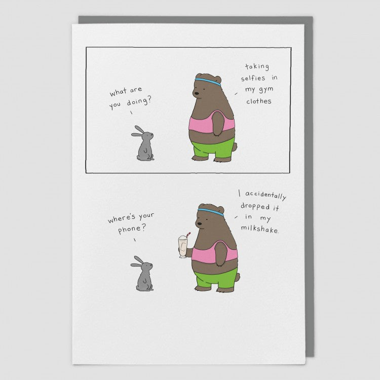 Gym Selfie Card by Liz Climo