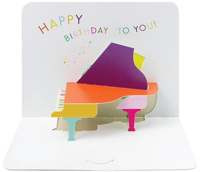 3D Grand Piano Happy Birthday Pop-Up Card