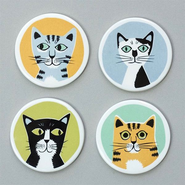 Cat Coasters by Hannah Turner