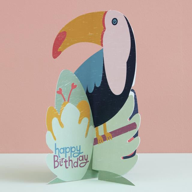 Toucan Fold-Out Birthday Card