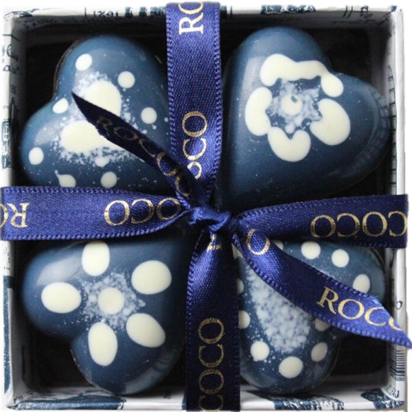 65% Dark Chocolate Hand-painted Blue Baby Hearts