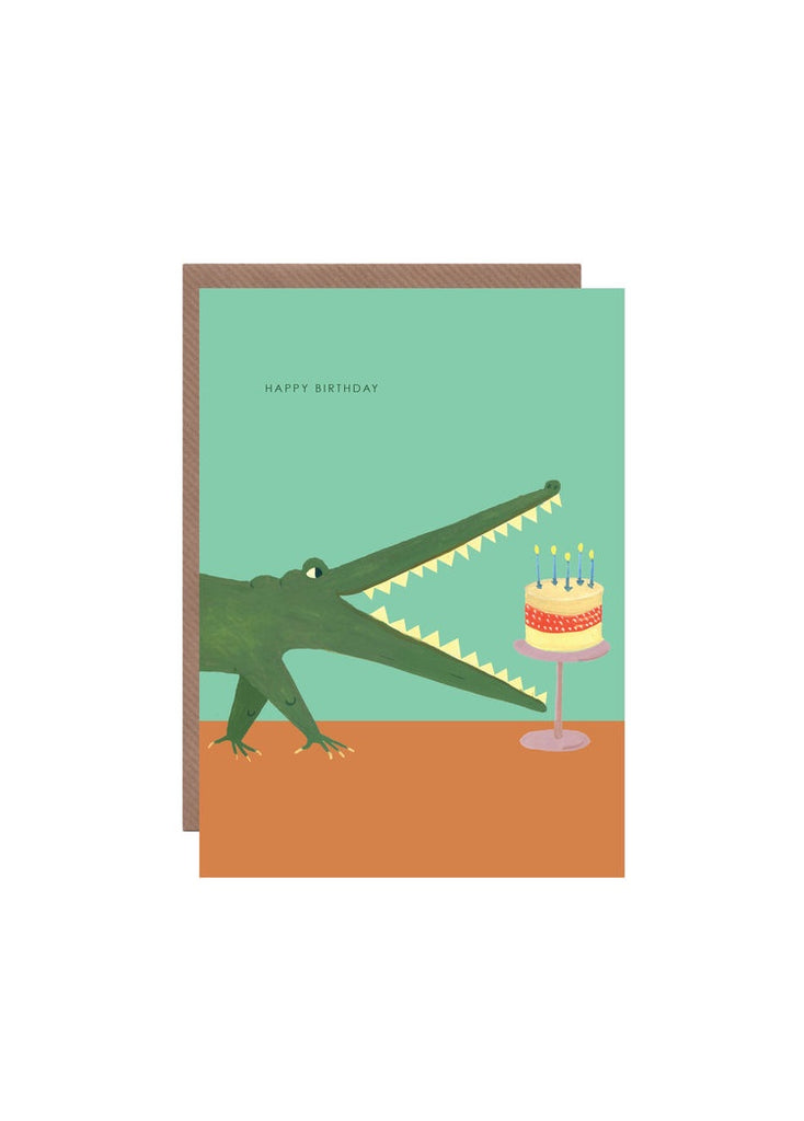 Happy Birthday Croc Card