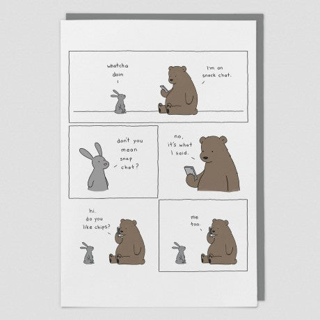 Snack Chat Animal Card