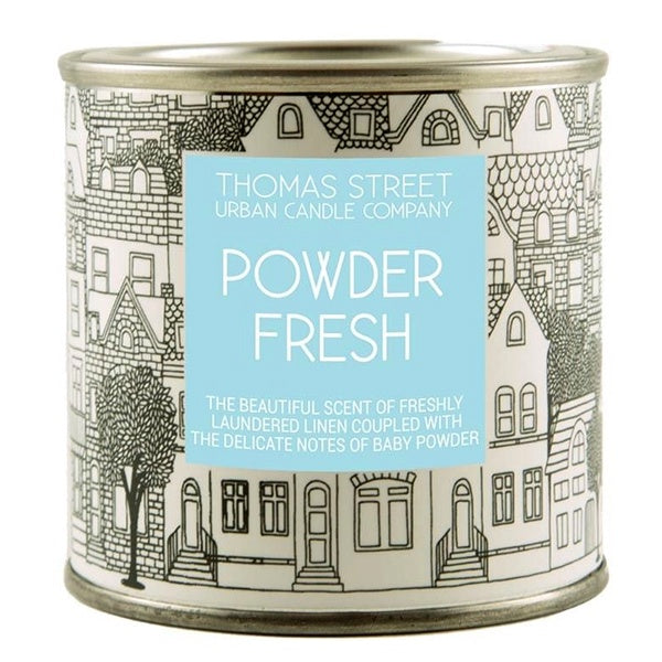 Powder Fresh Thomas Street Candle Tin